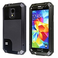 Redpepper Aluminum Alloy Gorilla Glass Waterproof Shockproof Case for Samsung Galaxy S5 - Black