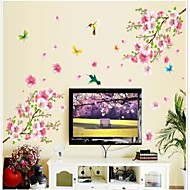 Doudouwo ® Florals The Peach Blossom y mariposas Hermosa Parachoque Pared