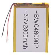 """Universal Udskiftning 3.7V 2800mAh Li-polymer Batteri til 7 ~ 10 """"Macbook Samsung Acer Sony Apple Tablet PC (4 * 60 * 90)"""