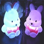 Coway Fehérrépa Rabbit színes LED Night Light Cute Little Rabbit Esküvő Hitel