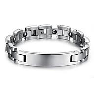 Heren Armbanden met ketting en sluiting Kostuum juwelen Juweeltje Titanium Staal Sieraden Voor Bruiloft Feest Dagelijks Causaal Sport