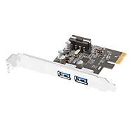 PCI Express para SuperSpeed USB 3.0 placa de expansão de 2 portas com 5V de 4 pinos Conector de alimentação para Desktops