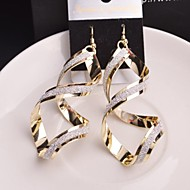 Exaggerated Vintage Warp Women Dull Polish Drop Earrings