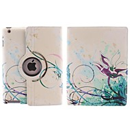 Abstract the Lotus Design 360 Degree Rotating PU Leather Case with Stand for iPad 2/3/4