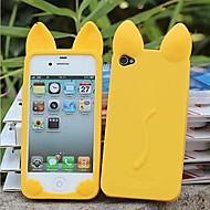 uusi 3d kissan korvat pehmeä silikoni kotelo iPhone 4/4S (eri värejä)