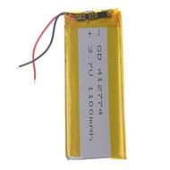 3.7V 1100mAh Lithium Polymer Battery for Cellphones  MP3  MP4(41*27*74)