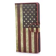 Bandeira americana Retro EUA Caso carteira de couro com suporte e slot para cartão de Huawei Ascend P7