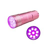 Hunterseyes ™ 9 LEDs UV 395-405NM  UV  Flashlight  Pink