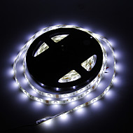 Vandtæt 5M 30W 30x5050SMD 1500-1800LM 6000-7000K Cool Hvidt lys LED Strip Light (DC12V)
