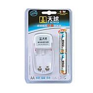 TMMQ 101 TMMQ 101 Oplader til 2stk AA / AAA Ni-MH / Ni-Cd genopladelige batterier (inkluderet 2xAA)