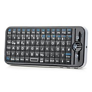 iPazzPort KP-810-16 R.F Wireless 2.4G 91-Key English and German Keyboard Air Mouse with IR Remote