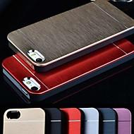 metal de alumínio escovado vormor®& pc caso de volta duro para o iPhone 5 / 5s (cores sortidas)