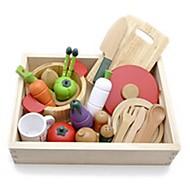 woody Puddy grøntsager køkken træ foregive spille edcational legetøj