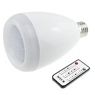 Bluetooth 3.0 Speaker E27 Base RGB 9W LED Bulb Music Lamp with Remote Controller (AC 90V~240V)