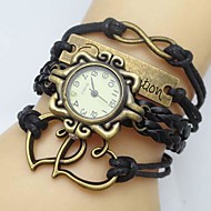 Women's Watch Flower Dial Heart Infinity Leather Weave Band Cool Watches Unique Watches