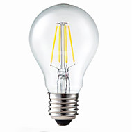 ON E26/E27 5W 4 COB 400 LM Warm White G60 Dimmable / Decorative LED Filament Bulbs AC 220-240 V