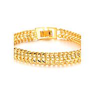 Cool Overheersend 18 K Gold Jewelry Super Classic Boys Bracelet Texture