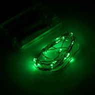 Xinyuanyang®  0.8W 100lm  20 x SMD 0603 LED  Green  Flexible String Light - (3 x AA / 200cm)