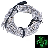 Xinyuanyang® Vine Style 10.8W 180x0603 SMD 900lm Green Light Flexible LED Strip Lamp - Silver + Black (12V)