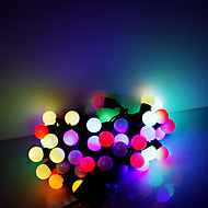 5m 50 leds julen halloween dekorative lys festlige lysstofrør RGB lampe perler (220V)