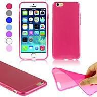 のために iPhone 6ケース / iPhone 6 Plusケース 超薄型 ケース バックカバー ケース ソリッドカラー ソフト TPU iPhone 6s Plus/6 Plus / iPhone 6s/6