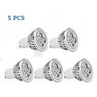 5 pcs GU10 5 W 1 350-400 LM Warm White MR16 Dimmable Spot Lights / Par Lights AC 220-240 V