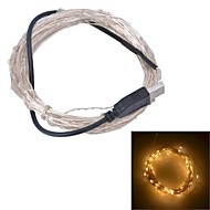 xinyuanyang® usb 6w 100-0603 smd warm wit licht led strip lamp - zilver (DC 5V / 1000cm)