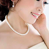 Necklace Strands Necklaces Jewelry Party / Daily / Casual Fashion Imitation Pearl White 1pc Gift