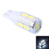 T10 4W 240LM 6000K 10x5630 SMD White LED for Car Steering Light (DC 12-24V,, 1Pcs)