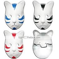 Maske Inspireret af Naruto Cosplay Anime Cosplay Tilbehør Maske Sort / Rød / Blå PVC Mand / Kvindelig