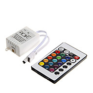 6A 72W IR 24-key RGB LED Remote Controller for RGB LED Light Strip (DC12V)