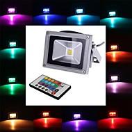 10 W 1 Integrate LED 900 LM RGB Remote-Controlled Flood Lights DC 12/AC 12 V