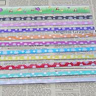 9 색상 행운의 종이 접기 재료 (45 페이지)