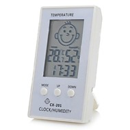 """Face Pattern 2.3"""" LCD Smart Electronic Thermometer  Hygrometer for Baby Room"""