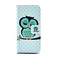 Coco fun® nukkuva pöllö kuvio PU nahka koko kehon tapauksessa näyttö suojelija, kynä ja seistä iphone 5c