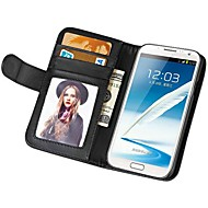 Soft Touch Wallet PU Leather Case for Samsung Galaxy NOTE 2 N7100