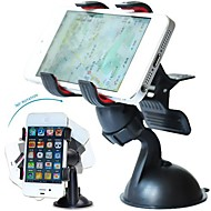 DSB® Premium 360 Degree Rotating Double Clip Universal Windshield Car Mount Holder for iPhone 4/4S/5/5S/6