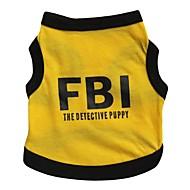고양이 / 개 티셔츠 / 져지 옐로우 강아지 의류 모든계절/가을 문자와 숫자 / 경찰/군인