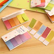 gradient regnbuens farger doble sider scrapbooking selvklebende notater