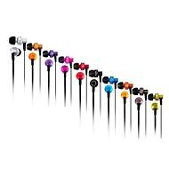 3.5mm stik i øret øretelefon med mikrofon&volumenkontrol til iPhone og Samsung m.fl. (assorterede farver)