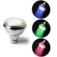 ABS Temperature Sensor 3 Colors Changing LED Light Shower Head Sprinkler Glow for Home Bathroom(Random Color)