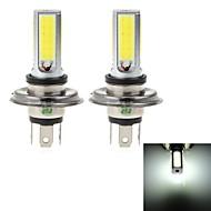 HJ  H4  24W 2300lm 6500-7000K 4xCOB LED Cool White Light Bulb for Car Fog Light (12-24V, 2Pcs)