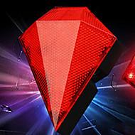 fjqxz 8 LED 3-Modus rot wiederaufladbare Diamantform bike Laserrücklicht
