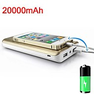 PN-999 20000mAh Portable External Battery for iPhone 5/5S  Samsung S4/5 HTC LG and Others Mobile Devices