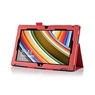 dengpin® pu folio soporte de cuero cubierta de la caja con el titular de la tarjeta&voluntad correa de mano para Nokia Lumia 2520 10.1