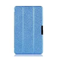 """dengpin® pu textura de seda de cuero de tres veces la cubierta del caso del soporte folio para bloc de notas asus 8 me181c 8 """"tablet"""