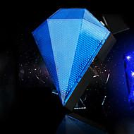 fjqxz 8 3 모드 블루 충전 다이아몬드 모양의 자전거 레이저 미등을 주도