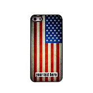 Personalized Case American Flag Design Metal Case for iPhone 5/5S