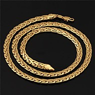 Golden Choker Necklaces / Chain Necklaces / Strands Necklaces Wedding / Party / Daily / Casual / Sports Jewelry