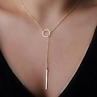 Damskie Naszyjniki z wisiorkami Długi Naszyjnik Y Shaped Stop Klasyczny minimalistyczny styl Biżuteria Na Impreza Urodziny Codzienny